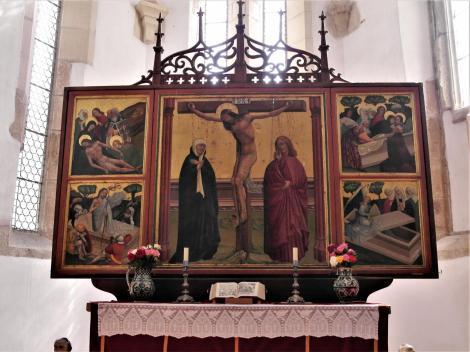 Tartlau (rum. Prejmer): Kirchenburg - Kirche Altar (2018)