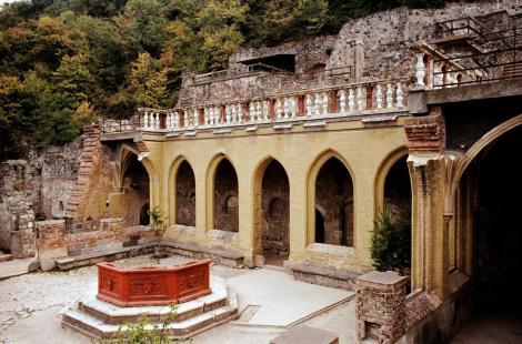 Plintenburg [ung. Visegrád]: Königspalast - Prunkhof mit Herkulesbrunnen (1983)
