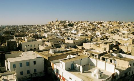 Sousse: Blick vom Ribat auf die Medina (1998)