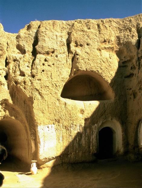 Matmata: Innenhof einer Höhlenwohnung (1998)