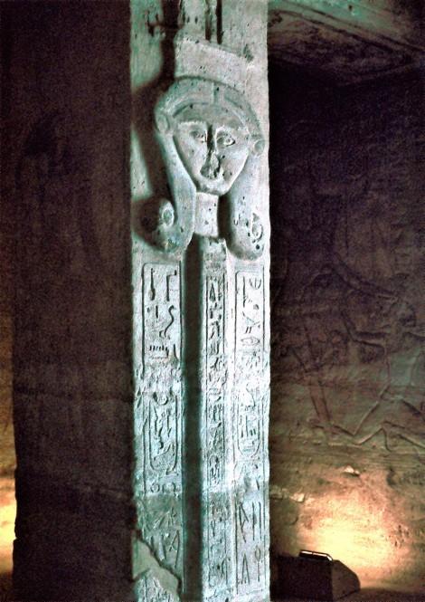 Abu Simbel: Kleiner Tempel [Hathortempel] - Pfeilerhalle, Göttin Hathor (1982)