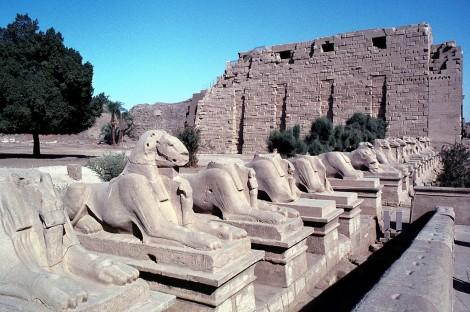 Luxor: Karnaktempel - Widder-Sphinx-Allee (1982)