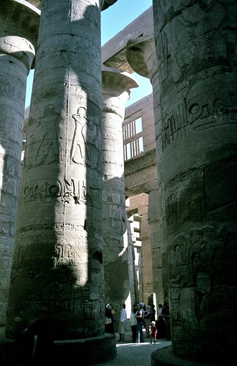 Luxor: Karnaktempel - Großer Säulensaal (1982)