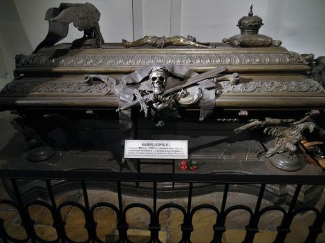 Wien: Kapuzinergruft - Sarkophag von Kaiser Leopold I. (2019)