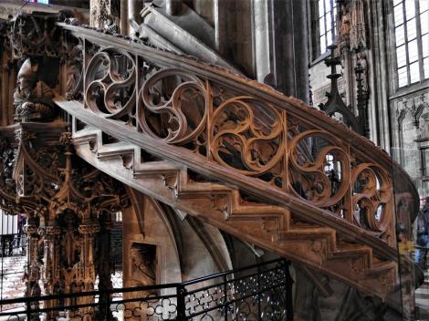 Wien: Stephansdom - Treppe der Kanzel (2019)