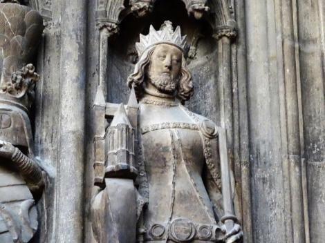 Wien: Stephansdom - Statue Rudolfs des Stifters am Bischofstor (2019)