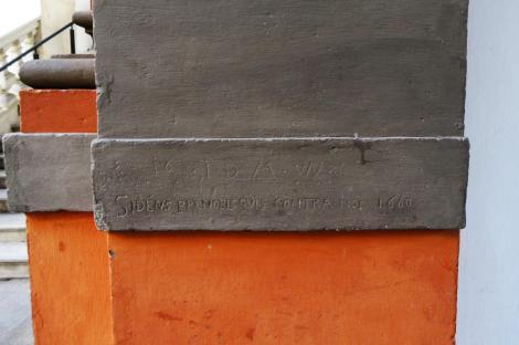"""Wien: Hofburg - eigenhändige Inschrift Kaiser Leopolds I. [Wahlspruch """"Si deus pro nobis, quis contra nos""""] (2019)"""