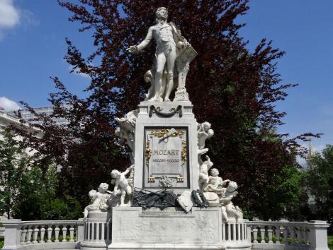 Wien: Mozart-Denkmal im Burggarten (2019)