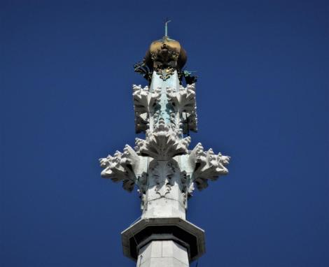 Wien: Turmspitze der Votivkirche (2019)