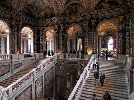 Wien: Kunsthistorisches Museum - Treppenhaus (2019)