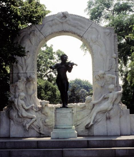 Wien: Stadtpark - Johann Strauß-Denkmal (1987)