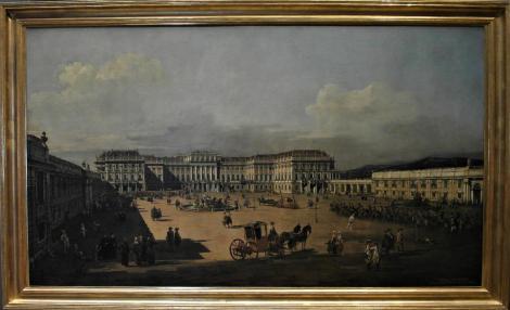 Kunsthistorisches Museum Wien: B. Bellotto, Das kaiserliche Lustschloss Schönbrunn - Ehrenhofseite (2019)