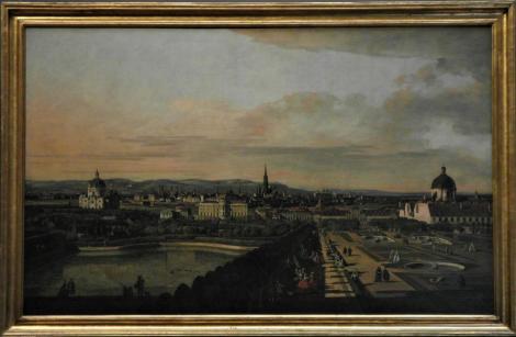 Kunsthistorisches Museum Wien: B. Bellotto, Wien vom Belvedere aus gesehen (2019)