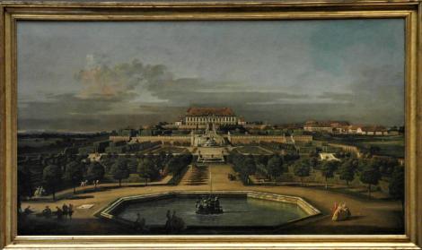Kunsthistorisches Museum Wien: B. Bellotto, Das kaiserliche Lustschloss Schloss Hof, Gartenseite (2019)