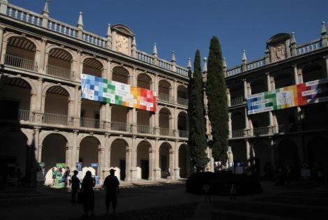 Alcalá de Hénares: Universität [Colegio Mayor San Ildefonso] - 1. Innenhof [Hof des hl. Tomas de Villanueva] (2019)