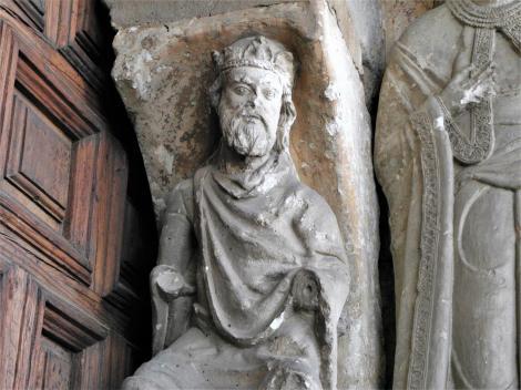 Avila: Kirche San Vicente - Südportal [König David = König Alfons VI.] (2019)