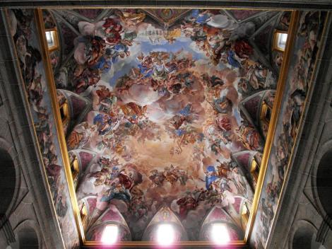 El Escorial: Klosterpalast - Fresko von Luca Giordano [Die Glorie der spanischen Monarchie] über der Haupttreppe (2019)