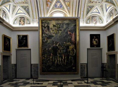 El Escorial: Klosterpalast - Kapitelsaal mit El Greco-Gemälden (2019)