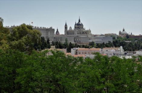 Madrid: Blick auf Schloss und Kathedrale (2019)