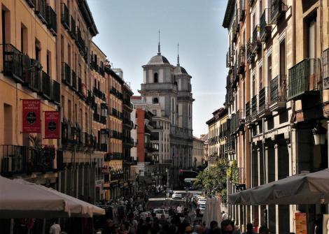 Madrid: Calle de Toledo mit Kirche San Isidro (2019)