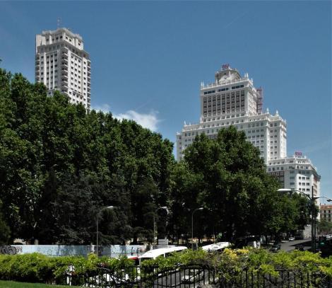 Madrid: Plaza de España - Torre de Madrid und Edificio España (2019)