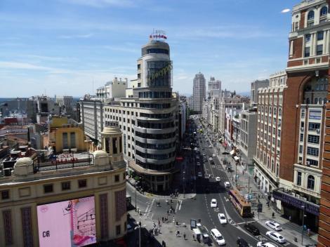 Madrid: Plaza del Callao - Mitte Edificio Carrión = Capitol-Gebäude (2019)
