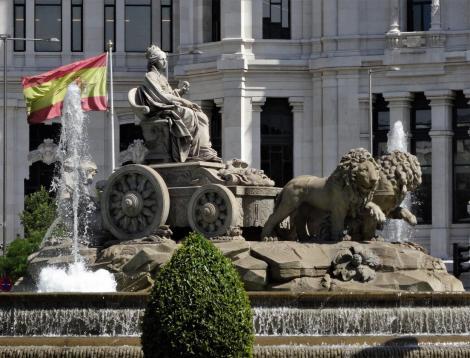 Madrid: Kybele-Brunnen auf dem Cibeles-Platz (2019)