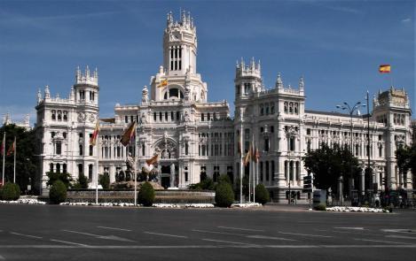 Madrid: Hauptpostamt [Cibeles-Palast] am Cibeles-Platz (2019)