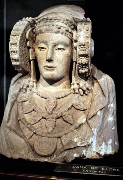 """Madrid: """"Dame von Elche"""" im Archäologischen Museum (1986)"""