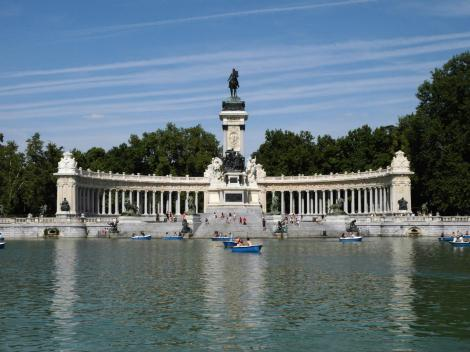 Madrid: Denkmal Alfons XII. im Retiro-Park (2019)