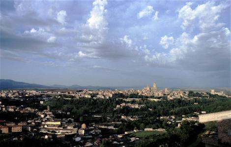 Segovia: Blick auf die Stadt (1986)