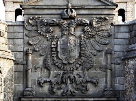 Toledo: Neues Bisagra-Tor - Wappen Kaiser Karls V. (2019)