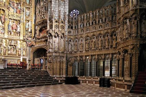 Toledo: Kathedrale - rechte Seite der Hauptkapelle [Capilla Mayor] (2019)