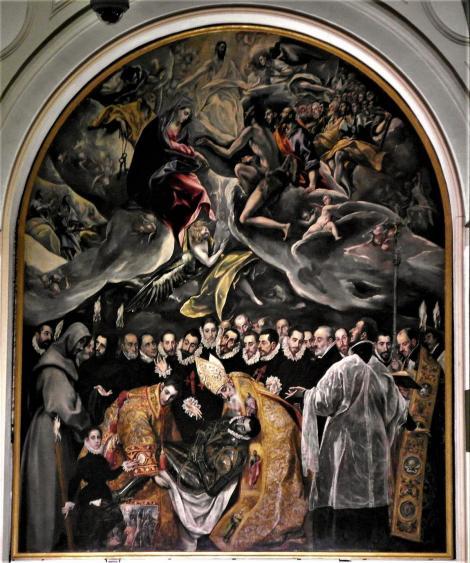 """Toledo: Kirche Santo Tomé - """"Das Begräbnis des Grafen Orgaz"""" von El Greco (2019)"""