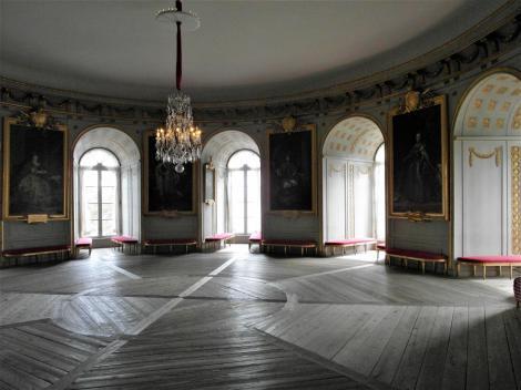 Schloss Gripsholm: Weißer Salon bzw. Runder Salon Gustavs III. [Theaterturm] (2019)