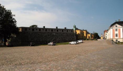 Karlskrona: Bastion Aurora, rechts Residenz (2019)
