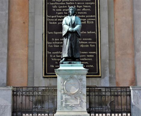 Stockholm: Denkmal des Reformators Olaus Petri vor der Nikolaikirche (2019)