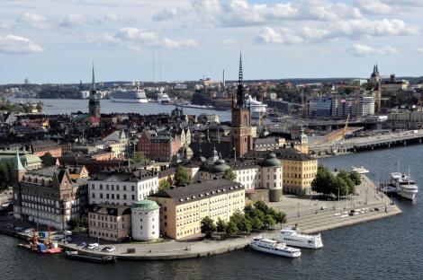 Stockholm: Blick vom Stadthausturm zur Ritterinsel [Riddarholmen] (2019)