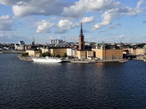 Stockholm: Blick von Södermalm zur Ritterinsel [Riddarholmen] (2019)