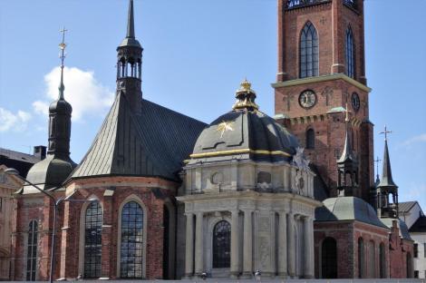 Stockholm: Ritterinselkirche [Riddarholmskyrkan, Nordostseite] (2019)