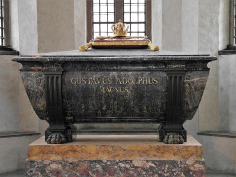 Stockholm: Ritterinselkirche [Riddarholmskyrkan] - Grabmal Gustav Adolf in der Gustavianischen Grabkapelle (2019)