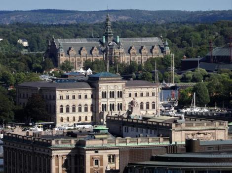Stockholm: Nationalmuseum [vorne] und Nordisches Museum [hinten] (2019)