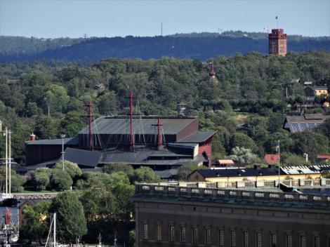 Stockholm: Djurgården mit Wasa-Museum und Bredablick-Turm (2019)