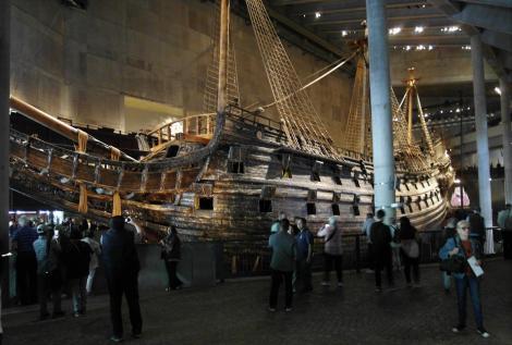 """Stockholm: geborgenes Segelschiff """"Wasa"""" im Wasa-Museum (2019)"""