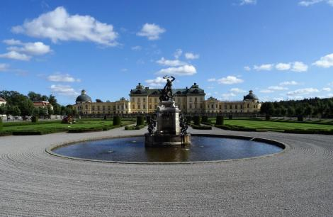 Schloss Drottningholm: Herkulesbrunnen und Schloss (2019)