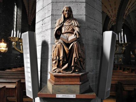 Vadstena: Klosterkirche - Statue Portraitähnliche Birgitta (2019)