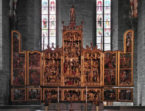 Vadstena: Klosterkirche - Hochaltar (2019)