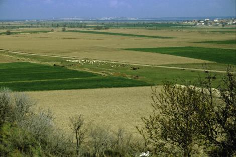 Blickvon Troja in die Skamander-Ebene und zu den Dardanellen (1997)