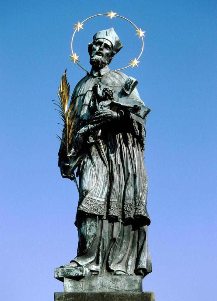 Prag: Karlsbrücke - Statue des Nepomuk (2004)