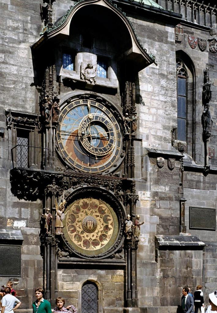 Prag: Altstädter Rathaus - astronomische Uhr (1982)